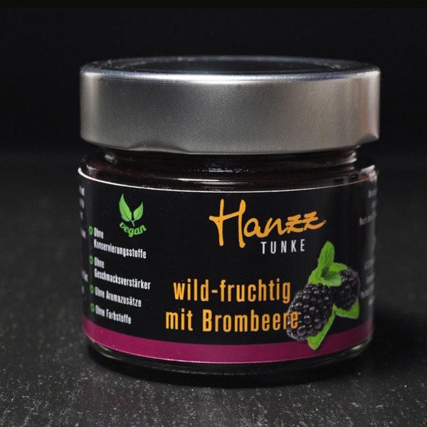 Hanzz Tunke Brombeere passt zur Hanzz Gans oder Wild, Paste, Käse