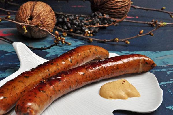 Hanzz rauchig Gourmet Bratwurst mit kräftigem Geschmack, Buchenholzgeräuchert